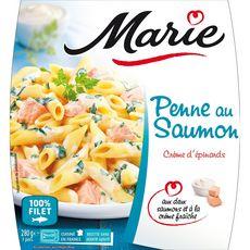 Marie penne au saumon et épinard 280g