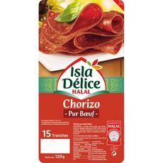 ISLA DELICE Chorizo pur boeuf halal 15 tranches 120g