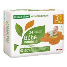 Auchan environnement change bébé mini 4/9kg x34 taille 3
