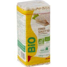 AUCHAN BIO Fines galettes de riz complet 28 pièces 130g