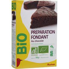 Auchan bio préparation pour fondant au chocolat 300g