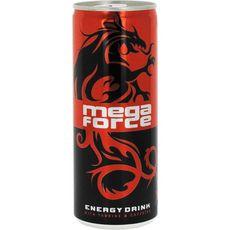MEGA FORCE Boisson gazeuse énergisante avec sucre et édulcorant 25cl