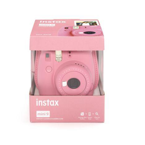 Appareil Photo Instantane Instax Mini 9 Kit Rose Flamingo