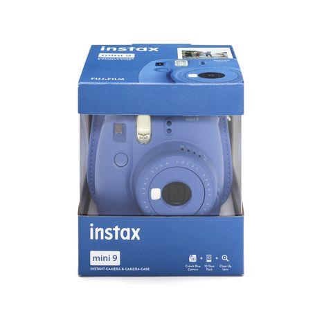 FUJIFILM Appareil Photo Instantané - INSTAX Mini 9 - Kit Bleu Cobalt + Housse + 10 Films