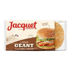 Jacquet Burgers géants à la farine complète x4 -330g