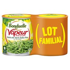 BONDUELLE Bonduelle Vapeur haricots verts extra fins 2x440g 2x440g