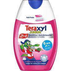TERAXYL Dentifrice et bain de bouche enfant 6ans et + à la fraise 75ml