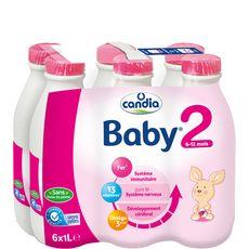 Candia Baby 2 lait 2ème âge liquide de 6 à 12 mois 6x1l