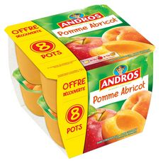 ANDROS Dessert fruitier pomme abricot 8x100g