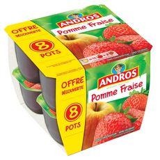 Andros pomme fraise 8x100g offre découverte