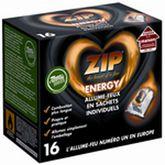 Zip Energy allume-feux sachets individuels x16