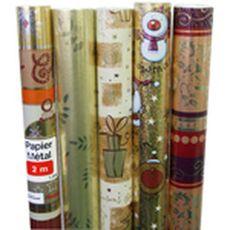 AUCHAN Auchan Papier cadeau métal 2x0,7m motifs assortis x1 1 pièce