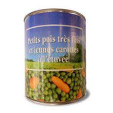 Petits pois très fins et jeunes carottes à l'étuvée 530g
