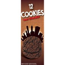 Cookies tout chocolat 200g 12 biscuits 200g
