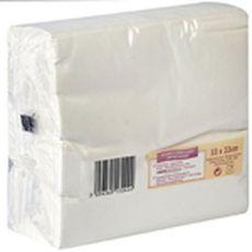 Actuel Serviettes en papier 33x33cm blanches x100