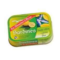 Les Mouettes d'Arvor sardines citron huile d'olive bio 115g