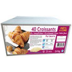 PANAVI Panavi Croissants prêts à cuire x40 2,4kg 40 pièces 2,4kg
