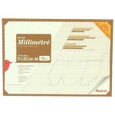 Auchan maxi pochette millimétrée 18 feuilles 72g 21x29,7cm