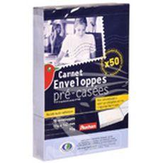 Auchan carnet enveloppes précasées 114x162 mm 90g x50