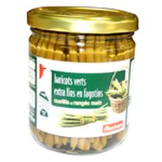 Auchan Haricots verts extra fins en fagotins cueillis et rangés main 220g