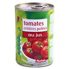 AUCHAN Tomates entières pelées au jus 240g