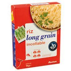 AUCHAN Riz long grain incollable 1kg