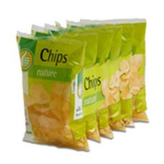 AUCHAN ESSENTIEL Chips nature - sachets individuels lot de 6 6x30g