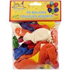 DYNASTRIB Dynastrib Ballons gonflables coloris assortis x50 50 pièces