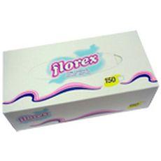 FLOREX Boîte de mouchoirs blanc 150 mouchoirs 1 boîte