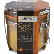 Labeyrie Foie gras de canard entier du sud-ouest au vieil Armagnac 190g