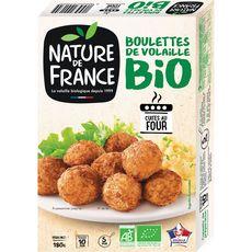 NATURE DE FRANCE Boulettes de volaille cuites bio 180g