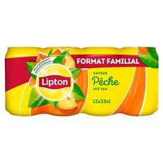 Lipton ice tea pêche boîte 12x33cl format spécial