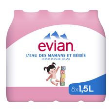 EVIAN Evian eau plate 8x1,5l