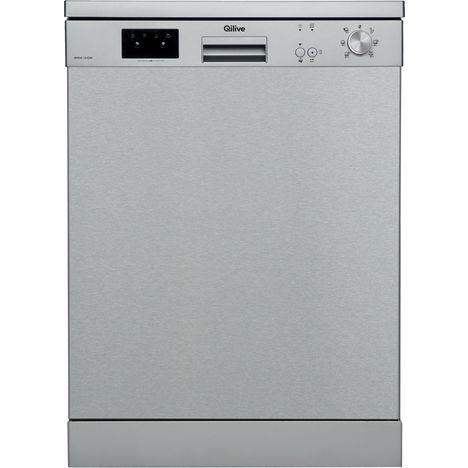 QILIVE Lave-vaisselle pose libre FNTX1ES1AL52215, 12 couverts, 60 cm, 45 dB, 6 Programmes