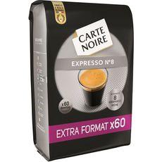 CARTE NOIRE Dosettes de café Espresso n°8 compatibles Senseo 60 dosettes 420g