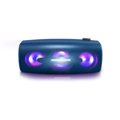 MUSE Enceinte portable Bluetooth lumineuse - Bleu - M-930 DJ