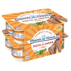 MAMIE NOVA MAMIE NOVA Fromage blanc au sucre de canne 8x100g 8x100g 8x100g
