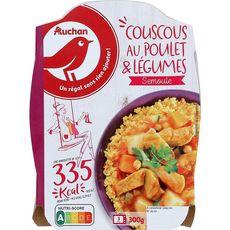 AUCHAN Couscous au poulet  1 portion 300g