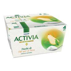 ACTIVIA Activia yaourt bifidus touche de thé noir et poire4x125g