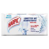 Harpic lingette désinfectante pour wc x30