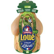 Loué poulet entier bio 1,35kg