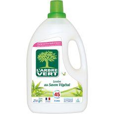 Arbre Vert lessive végétale écolabel 45 lavages 3l