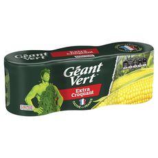 GEANT VERT Maïs extra croquant sans OGM cultivé en France 3x140g