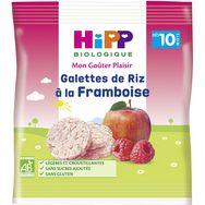 Hipp Mon goûter plaisir galettes de riz à la framboise bio dès 10 mois 30g