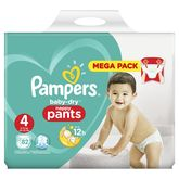 Pampers baby dry pants mega x82 taille 4