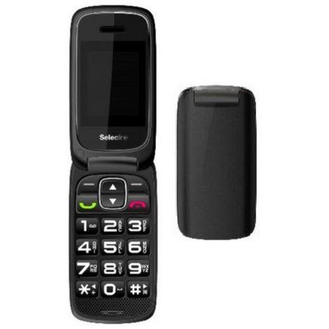 SELECLINE Telephone mobile SENIOR FLIP - Noir