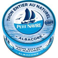 PETIT NAVIRE Thon albacore entier au naturel 140g