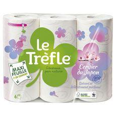 LE TREFLE Le Trèfle Papier toilette décoré et parfumé maxi-feuille x6 6 rouleaux