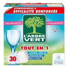 L'Arbre Vert Tablettes lave vaisselle écologique tout-en-1 x30