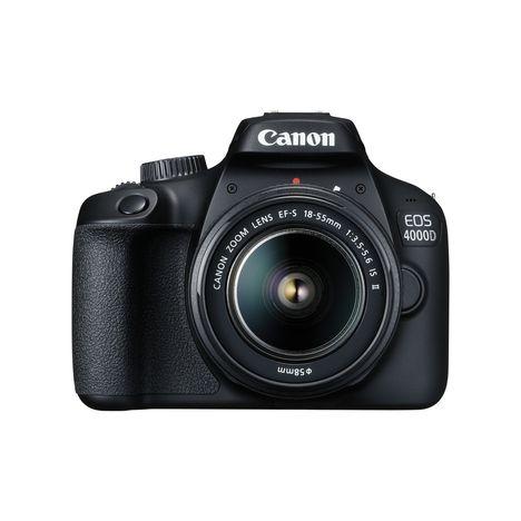 CANON Appareil Photo Reflex -  EOS 4000D - Noir + Objectif 18-55 mm